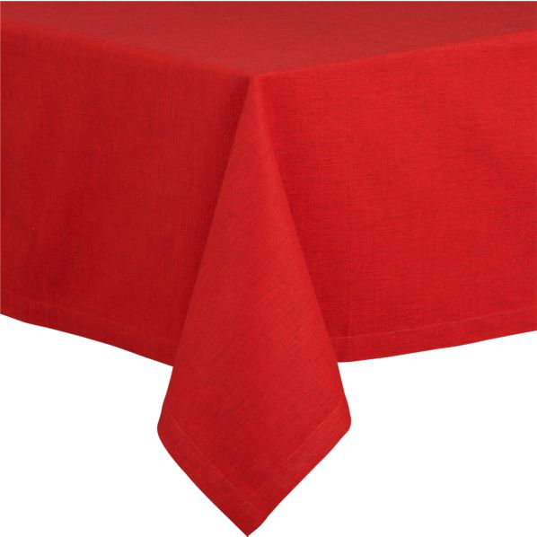"Linden 60""x108"" Ruby Tablecloth"