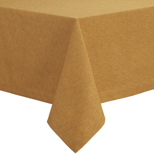 "Linden Butterscotch 60""x144"" Tablecloth"