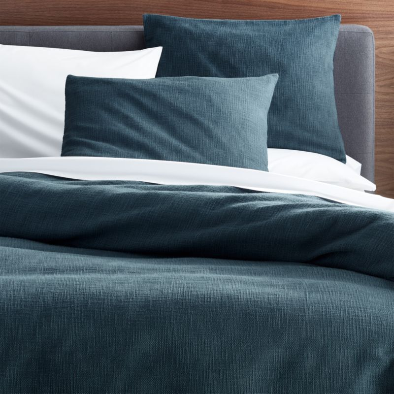 Lindstrom Blue King Duvet Cover Crate And Barrel