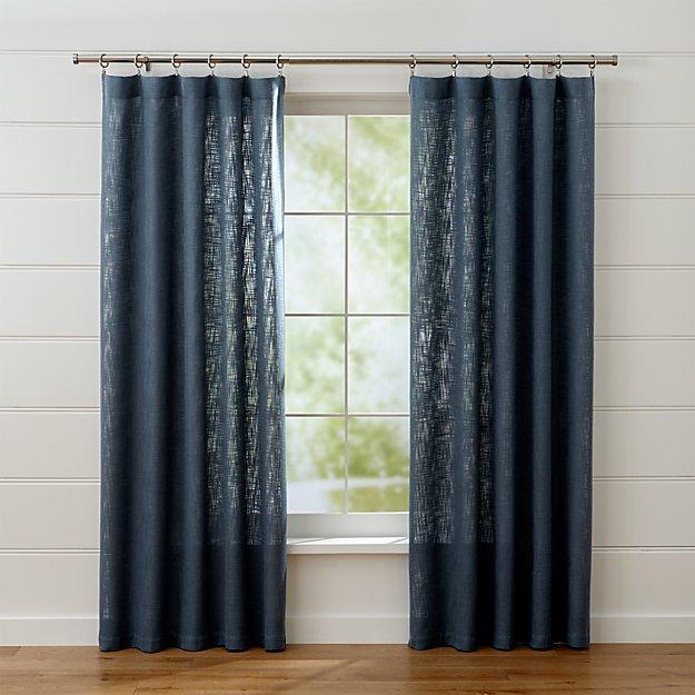 lindstrom blue curtain panels crate and barrel. Black Bedroom Furniture Sets. Home Design Ideas