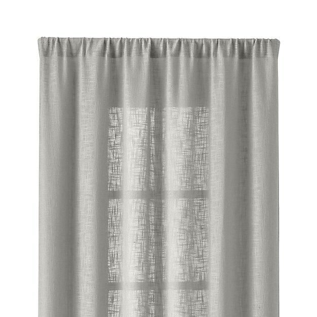 lindstrom 48 x84 grey curtain panel crate and barrel. Black Bedroom Furniture Sets. Home Design Ideas
