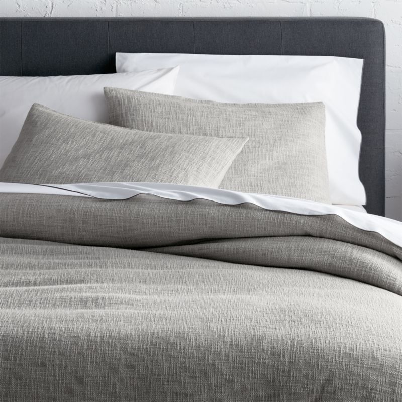 Lindstrom Grey Duvet Covers And Pillow Shams Crate And