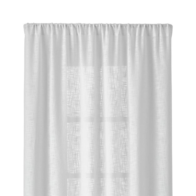 """Lindstrom White 48""""x96"""" Curtain Panel"""