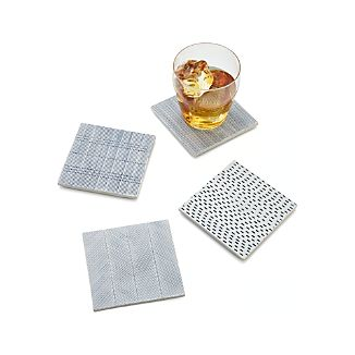 Set of 4 Linea Tile Coasters