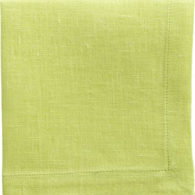 Set of 8 Linen Lime Cocktail Napkins