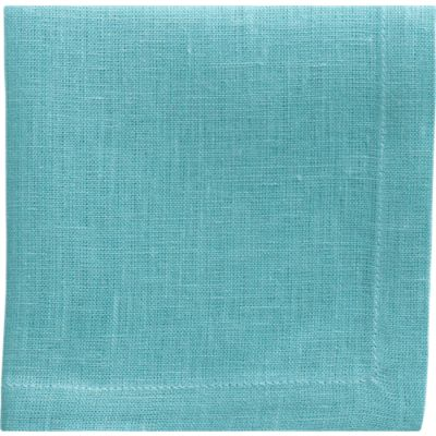 Set of 8 Linen Ocean Cocktail Napkins