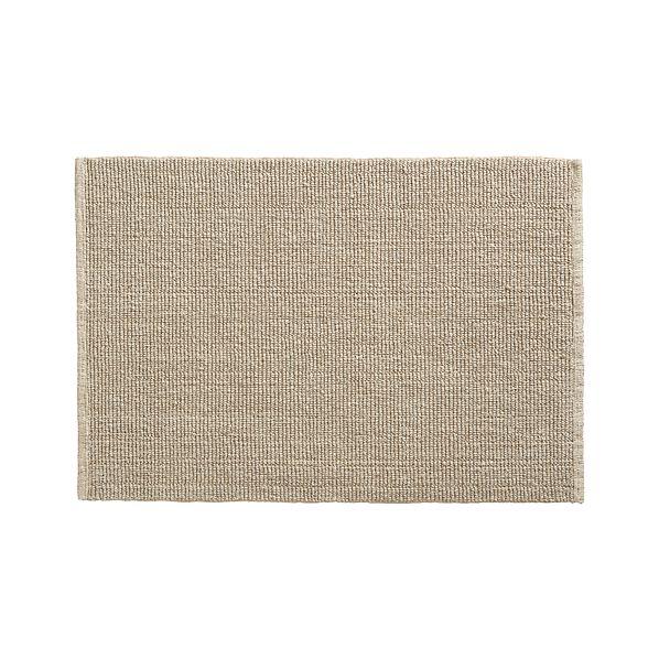 Linen Cotton Bath Rug