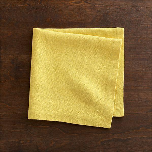 Linen Yellow Napkin