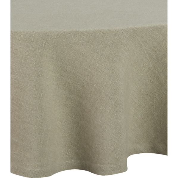 "Linen Natural 90"" Round Tablecloth"