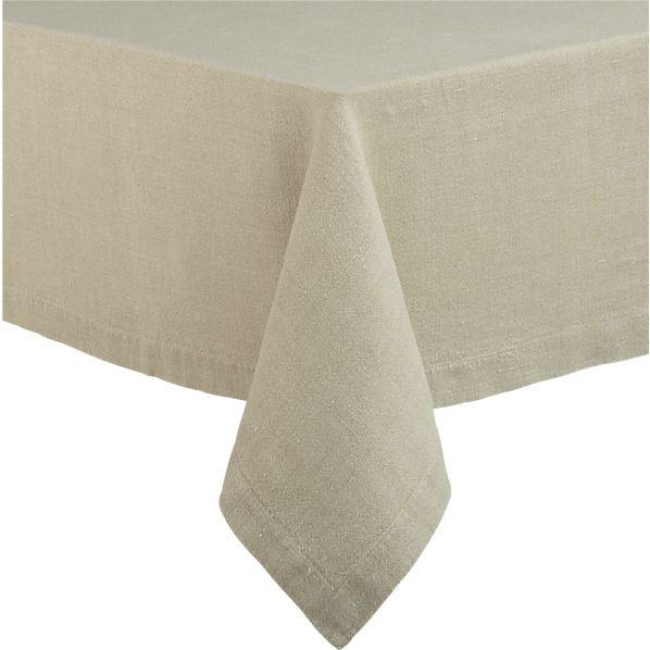 """Linen Natural 60""""x60"""" Tablecloth"""