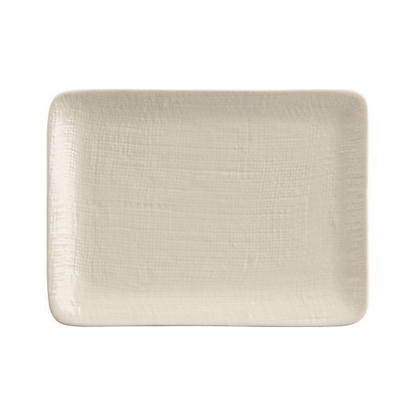 Linen Rectangle Appetizer Plate