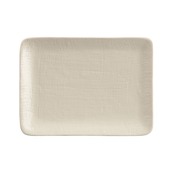 Linen Rectangle Appetizer Plate