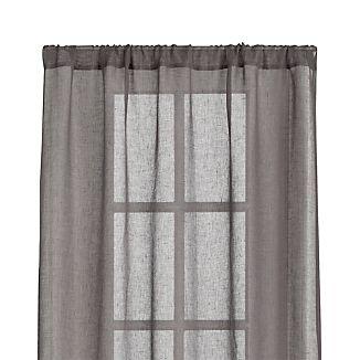 Linen Sheer Grey Curtains
