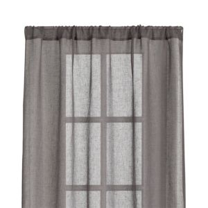 Linen Sheer Grey 52x84 Curtain Panel