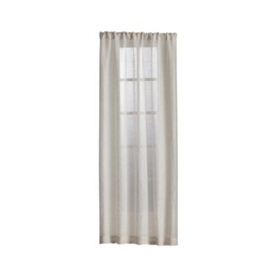 Natural Linen Sheer 100x108 Curtain Panel