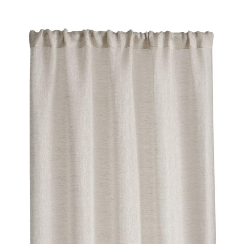 "Linen Sheer 52""x63"" Natural Curtain Panel"