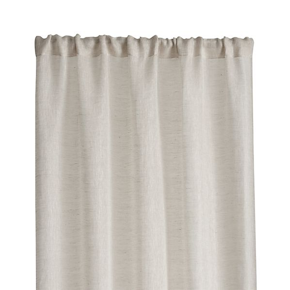 "Linen Sheer 52""x96"" Natural Curtain Panel"
