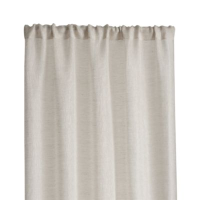 Natural Linen Sheer 52x63 Curtain Panel