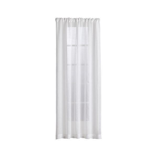 Linen Sheer White Curtains