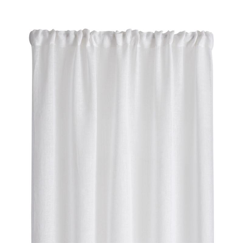 """Linen Sheer 52""""x63"""" White Curtain Panel"""
