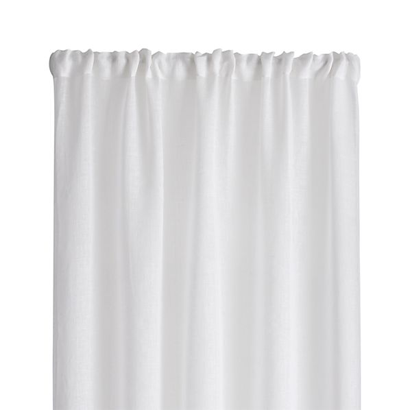 "White Linen Sheer 52""x63"" Curtain Panel"