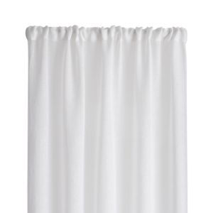 White Linen Sheer 100x108 Curtain Panel