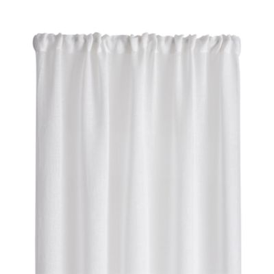 White Linen Sheer 52x96 Curtain Panel