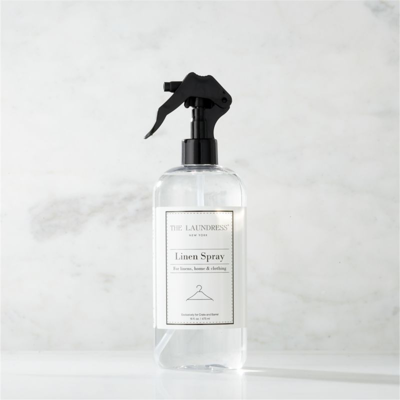 Take a new view of laundry day with our exclusive cleaning solutions from the experts at The Laundress®. Formulated just for Clean Slate™, this ultra-gentle, eco-friendly linen spray is subtly infused with the scent of lavender for the ultimate finish when ironing or steaming. It also refreshes and deodorizes home furnishings and maintains a freshly laundered scent between washings. The plant-based formula is 100% biodegradable, non-toxic, non-abrasive, and chlorine- and allergen-free with no artificial colors or dyes, making it a kind choice for both the environment and sensitive skin.<br /><br />The Laundress® was dreamt up by two graduates from Cornell University's Fiber Science, Textile and Apparel Management and Design program. Frustrated with the financial and environmental cost of dry cleaning, the pair researched and developed eco-conscious formulas designed to properly care for every item in your closet.<br /><br /><NEWTAG/><ul><li>Formulated exclusively for Clean Slate™ by The Laundress®</li><li>For use as a sheet spray, furniture refresher and pick-me-up between washings</li><li>Plant-based spray is 100% biodegradable, non-toxic and allergen-free with no artificial colors or dyes</li><li>Subtly scented with lavender</li><li>Plastic container is BPA-free</li><li>Made in USA</li></ul>