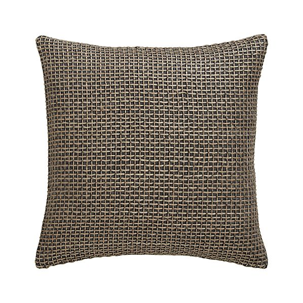 "Linen Woven 18"" Pillow with Feather-Down Insert"