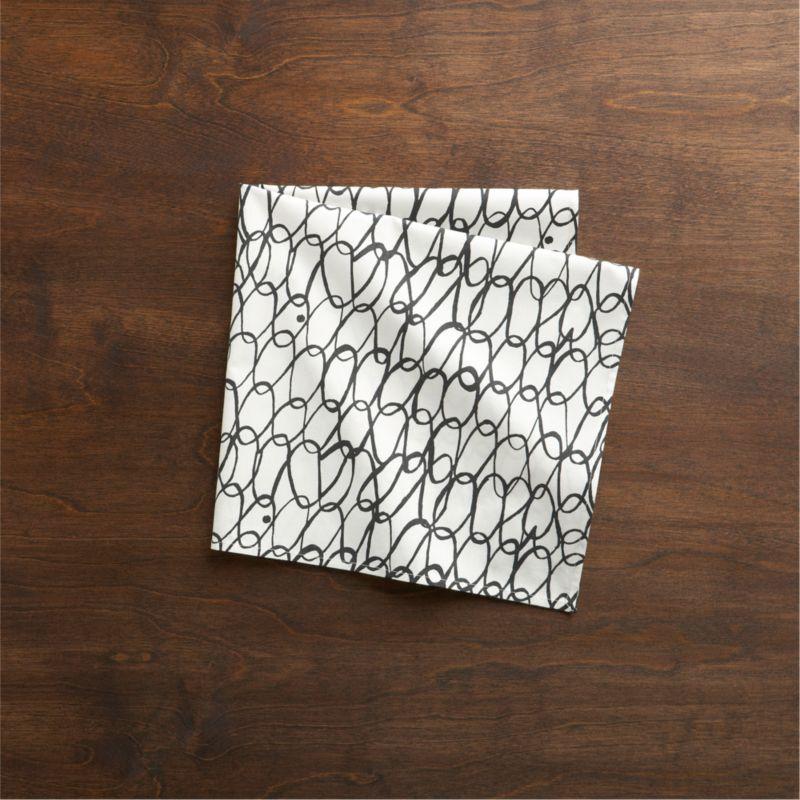 Designer Luli Sanchez links up casual black ovals on crisp white in a freeform, fun-loving grid.<br /><br /><NEWTAG/><ul><li>Designed by Luli Sanchez</li><li>100% cotton</li><li>Machine wash cold, tumble dry; warm iron as needed</li><li>Made in India</li></ul>