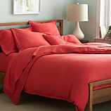 Lino Coral Linen Full/Queen Duvet Cover