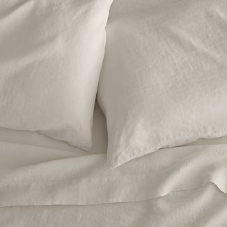 Lino Cream Linen Sheets and Pillow Cases