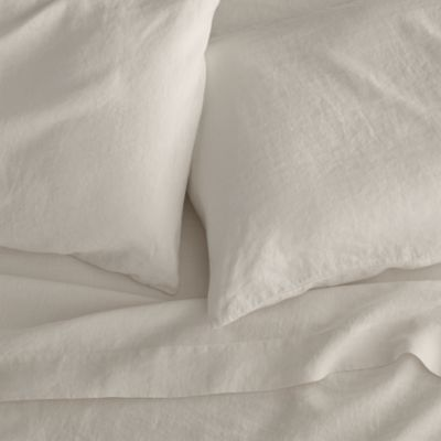 Lino Cream Linen Full Fitted Sheet