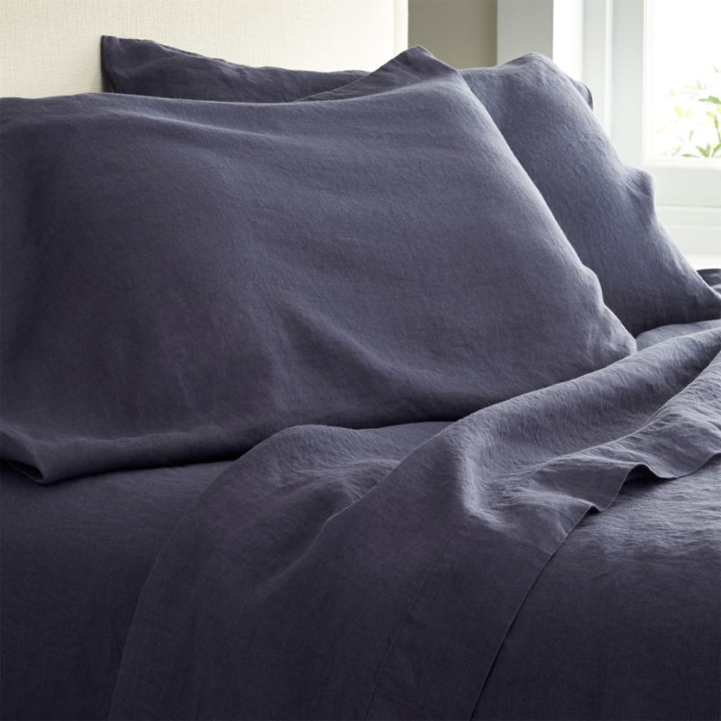 "Super soft, washed bedding in solid, gorgeous hues spreads the bed in the comforting touch and relaxed, worn-in style of pure linen.<br /><br />Due to the nature of linen, you will find slight variations in color, as well as fabric irregularities that come from the spinning or weaving process. The imperfections of the long and short fibers create knots and slubs in the weaving, giving this product a natural and unique look. These irregularities should not be considered imperfections, but rather the beauty of the linen fabric, one of the oldest natural fabrics in textiles.<br /><br /><NEWTAG/><ul><li>100% linen</li><li>3"" hem</li><li>Machine wash, tumble dr"