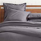 Lino Dark Grey Linen Full/Queen Duvet Cover.