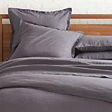 Lino Dark Grey Linen King Duvet Cover