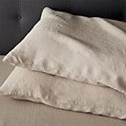 Set of two Lino Flax Linen Standard Pillow Cases.