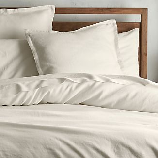 Lino II Cream Duvet Covers and Pillow Shams