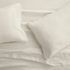 Lino II Cream Linen King Sheet Set