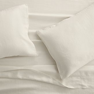 Lino II Cream Linen Sheets and Pillow Cases