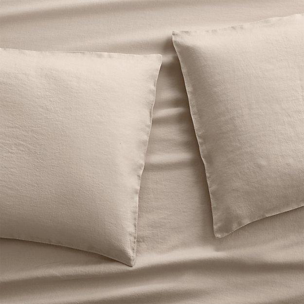 Set of 2 Lino II Flax Linen Standard Pillow Cases