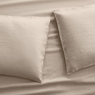 Set of 2 Lino II Flax Linen Standard Pillow Cases