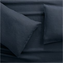 Lino II Midnight Blue Linen King Pillow Cases