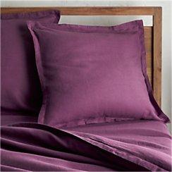Lino II Purple Linen Euro Sham
