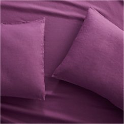 Set of 2 Lino II Purple Linen Standard Pillow Cases