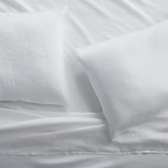 Lino II White Linen King Sheet Set
