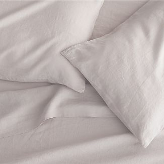 Lino Light Grey Linen Sheets and Pillow Cases