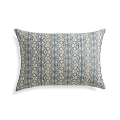 "Lira 22""x15"" Pillow with Feather-Down Insert"