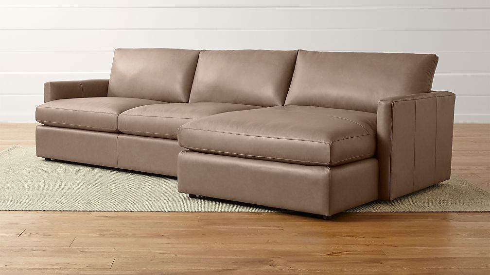 Lounge Ii Leather 2 Piece Right Arm Chaise Sectional Sofa