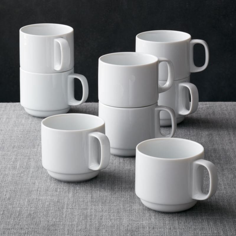 Set Of 8 Logan Stacking Mugs Crate And Barrel